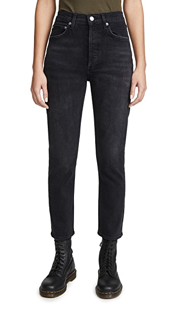 AGOLDE Riley High Rise Straight Crop Jeans