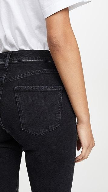 AGOLDE Carrie Long Length Slim Shorts