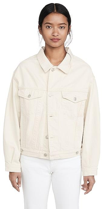 AGOLDE Charli Oversized Jacket - Paper