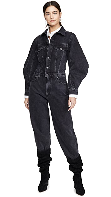 AGOLDE Balloon Sleeve Jumpsuit