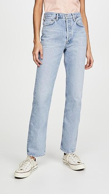 AGOLDE Lana 低腰复古直筒牛仔裤
