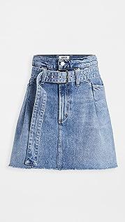 AGOLDE Reworked 90's Paperbag Skirt