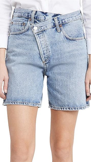 AGOLDE Crisscross Upsized Shorts