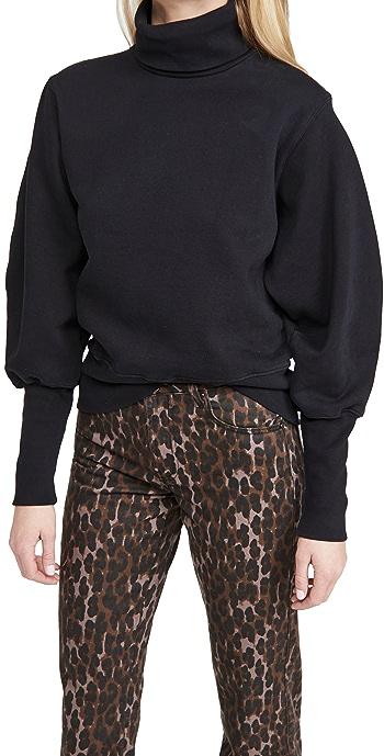AGOLDE Extended Rib Sweatshirt - Black