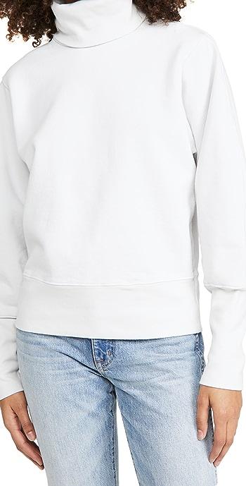 AGOLDE Extended Rib Sweatshirt - Paper Mache