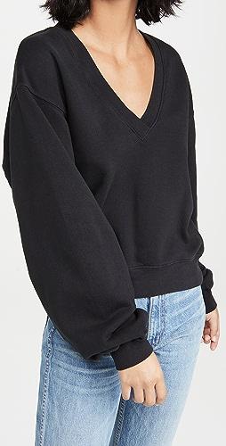 AGOLDE - V 领灯笼袖运动衫