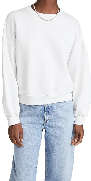AGOLDE Balloon Sleeve Sweatshirt - Paper Mache
