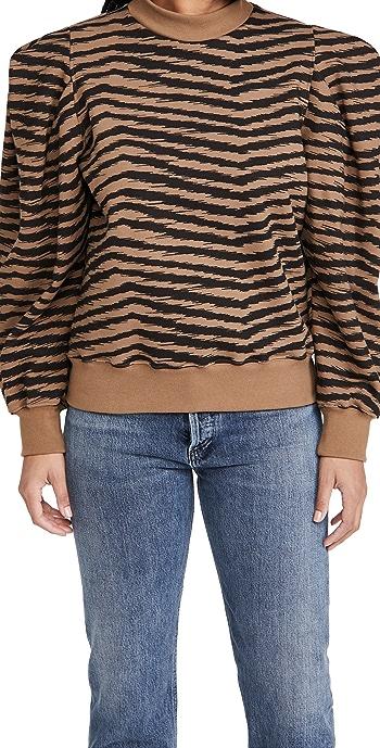 AGOLDE Folded Sleeve Sweatshirt - Serpentine