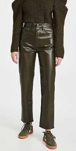 AGOLDE - 再生皮贴合 90 年代风格长裤