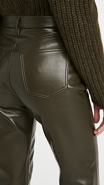 AGOLDE Recycled Leather Fitted 90's Pants