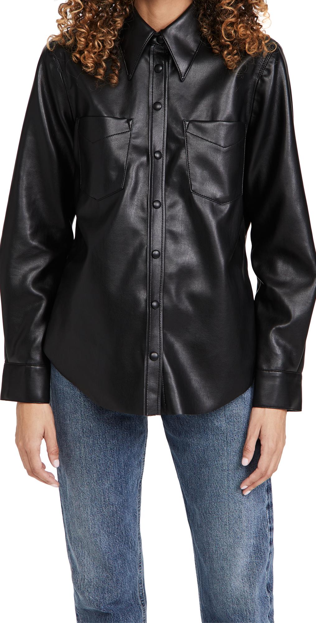 AGOLDE Paloma Vegan Leather Shirt