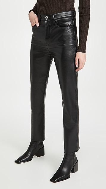 AGOLDE 再生皮贴合 90 年代风格长裤