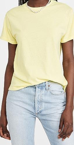 AGOLDE - Rena T 恤 : 圆领简约 T 恤
