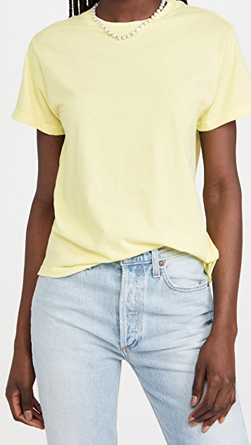 AGOLDE Rena T 恤 : 圆领简约 T 恤