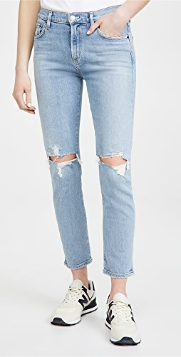 AGOLDE - Toni Mid Rise Straight Jeans
