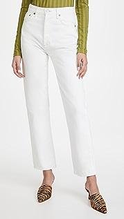 AGOLDE 90 年代复古风格束腰高腰直脚牛仔裤