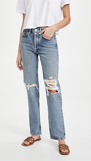 AGOLDE Lana Mid Rise Vintage Straight Jeans