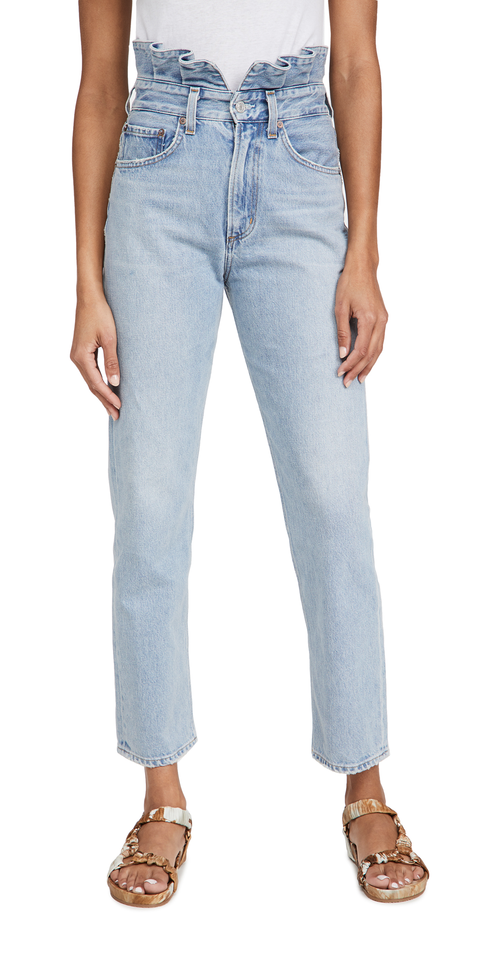 Agolde Pants LETTUCE WAISTBAND REWORKED JEANS