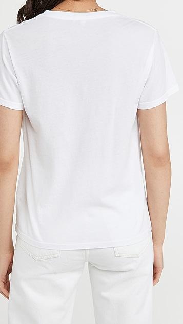 AGOLDE Thea V 领简约 T 恤