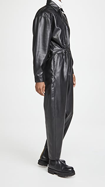 AGOLDE Vegan Leather 80's Waisted Jumpsuit