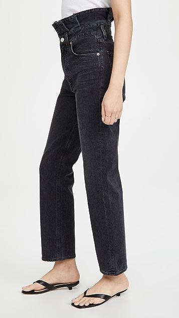 AGOLDE 锯齿边腰部升级版牛仔裤