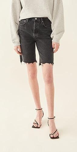 AGOLDE - 90's Pinch Waist High Rise Straight Leg Shorts