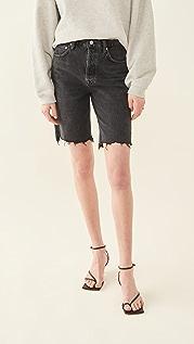 AGOLDE 90's Pinch Waist High Rise Straight Leg Shorts