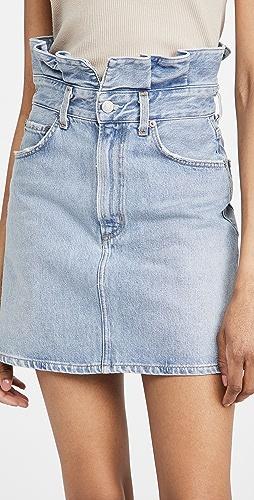 AGOLDE - 锯齿形腰部改良版高腰半身裙