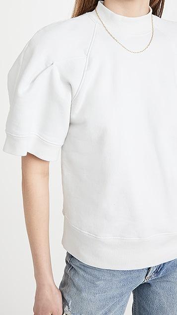 AGOLDE 弧形肩部中袖宽松运动衫