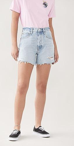AGOLDE - Riley 高腰修身短裤