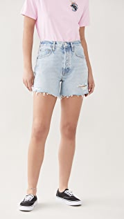 AGOLDE Riley High Rise Slim Leg Shorts