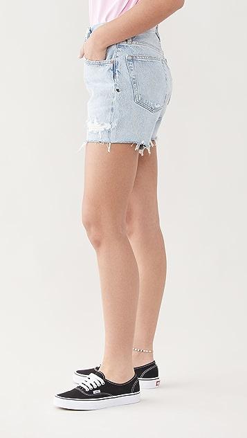 AGOLDE Riley 高腰修身短裤