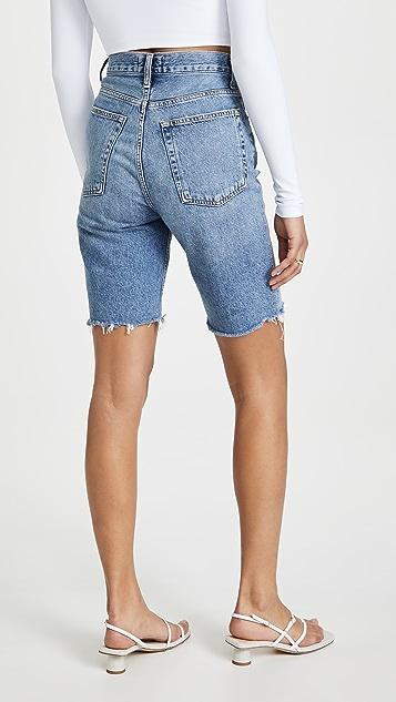 AGOLDE 90 年代复古风格束腰高腰直脚短裤