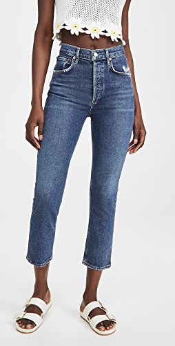 AGOLDE - Riley High Rise Straight Crop Jeans