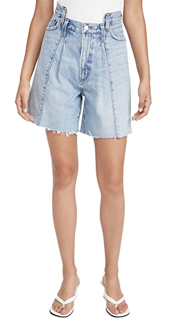 AGOLDE Pieced Angled Shorts