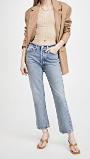 AGOLDE Lana Crop Mid Rise Vintage Straight Jeans