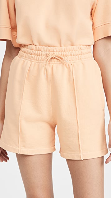AGOLDE 90 年代复古风格细褶高腰休闲短裤