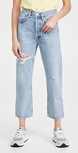 AGOLDE - 90's Crop Mid Rise Loose Straight Jeans