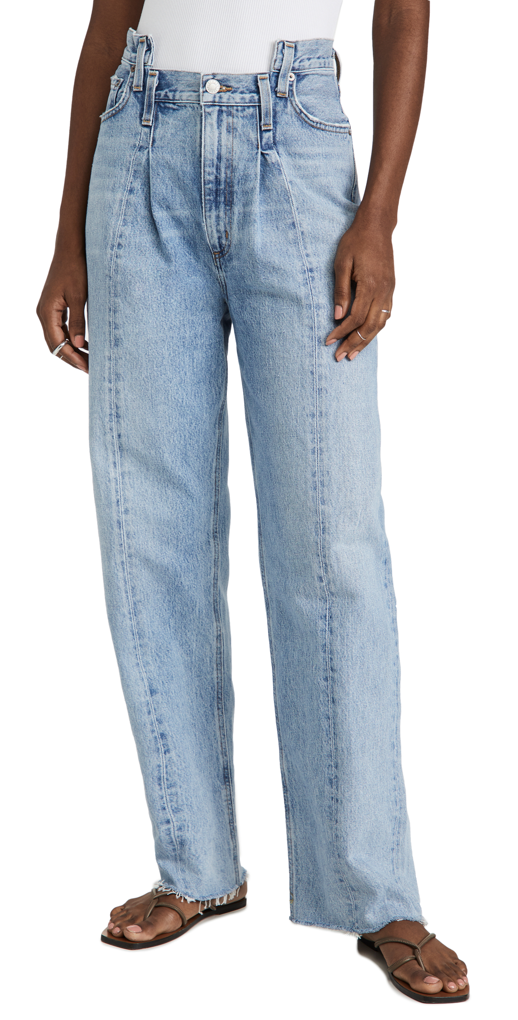 AGOLDE Pieced Angled Jeans