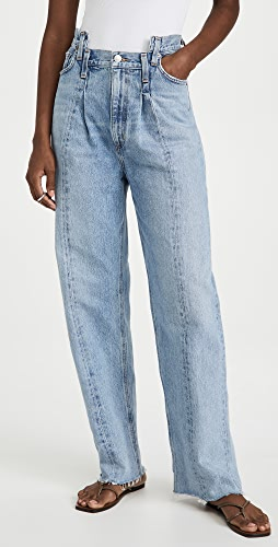 AGOLDE - 拼接斜角牛仔裤
