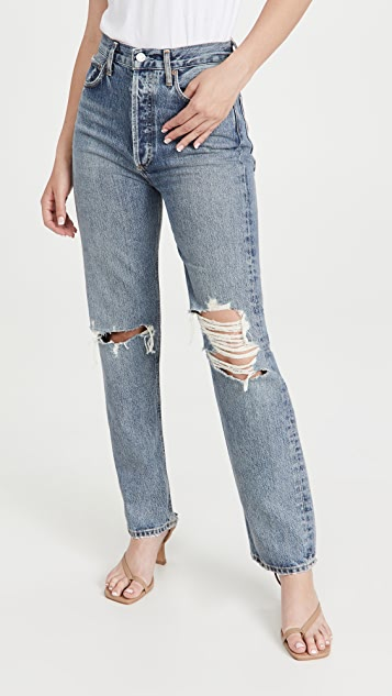 AGOLDE '90s Pinch Waist High Rise Straight Jeans