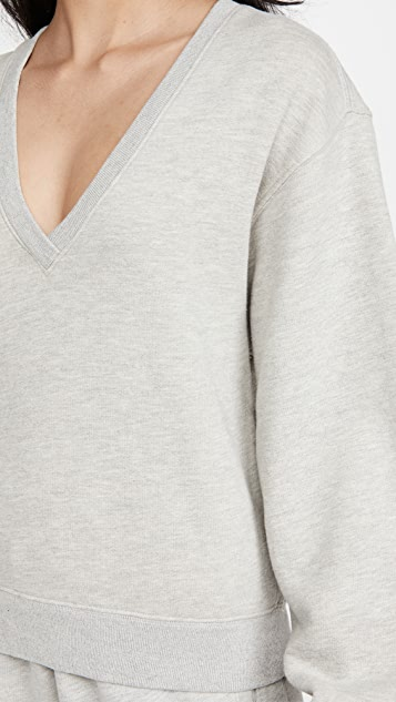 AGOLDE V 领灯笼袖运动衫