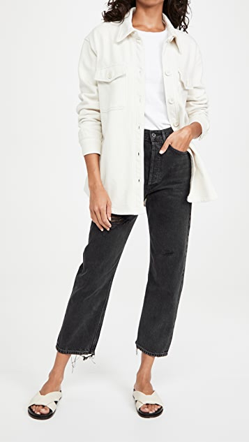 AGOLDE 90's Crop Mid Rise Loose Straight Jeans
