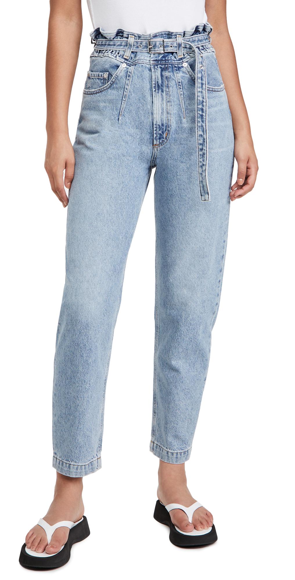 AGOLDE Riya Elasticated High Rise Peg Jeans