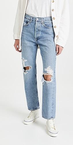 AGOLDE - 90 年代复古风格中腰宽松剪裁牛仔裤