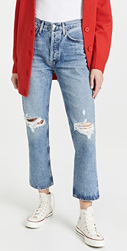 AGOLDE - Lana Crop Mid Rise Vintage Straight Jeans