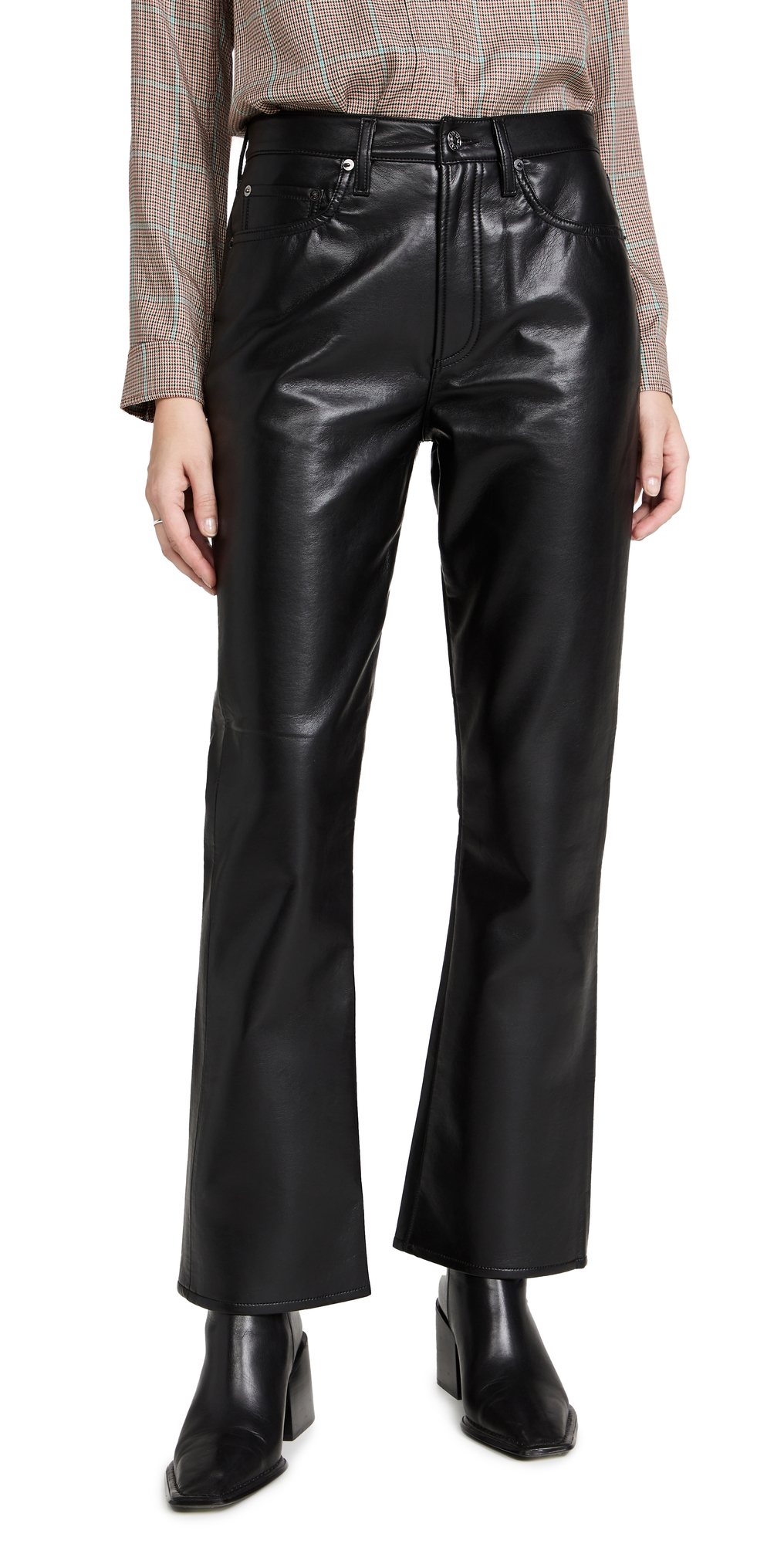 AGOLDE Recycled Leather: Mid Rise Relaxed Boot Jeans