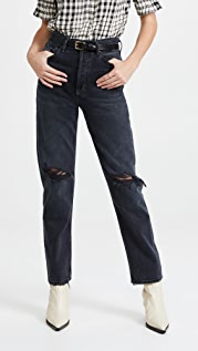 AGOLDE 90's Pinch Waist High Rise Straight Jeans