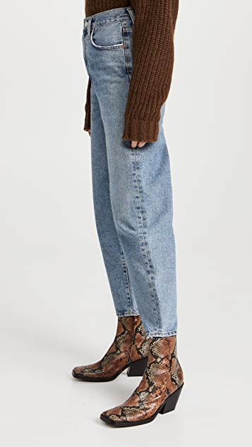 AGOLDE 超高腰弧形锥形牛仔裤