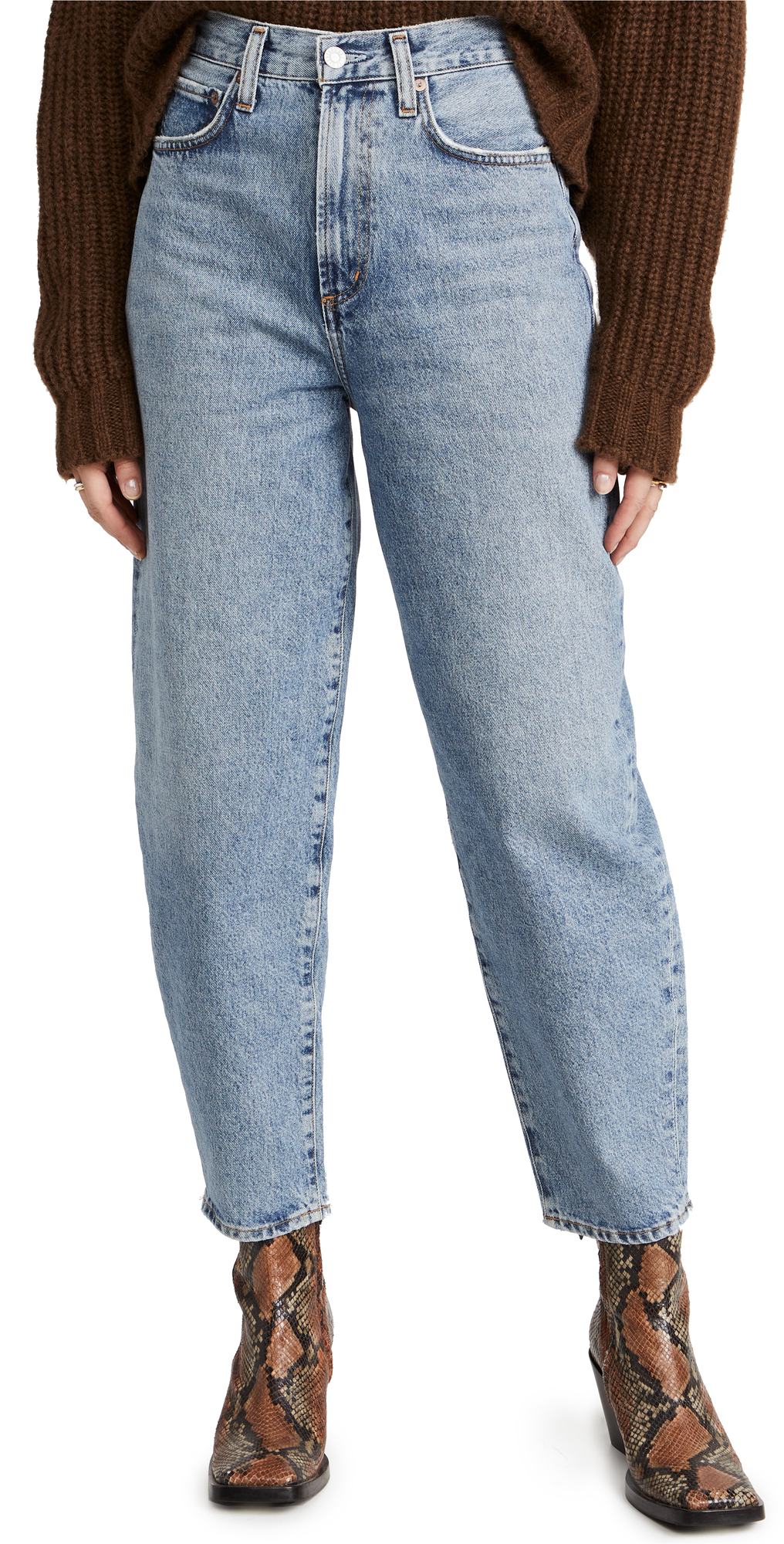AGOLDE Ultra High Rise Curved Taper Balloon Jeans